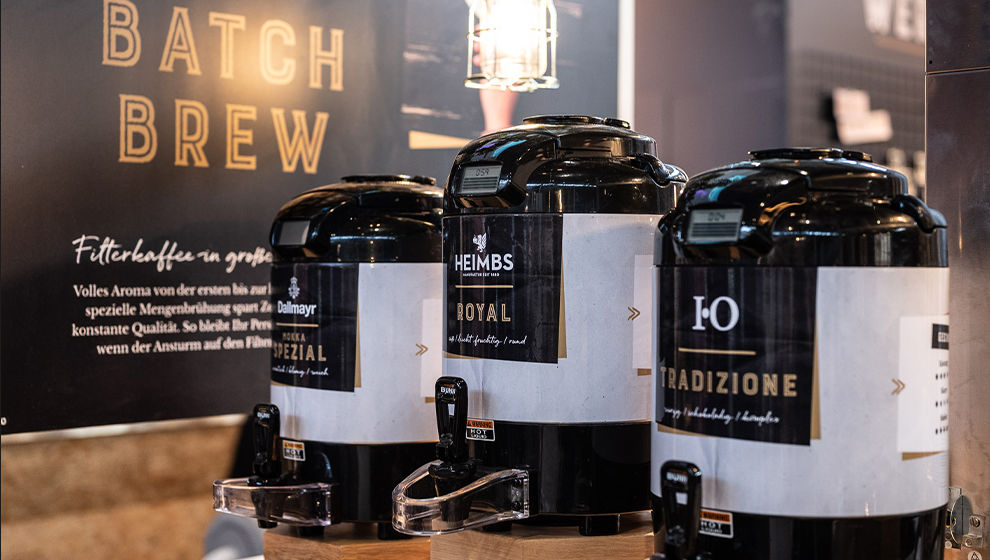 Batch brew Messestand Detailansicht